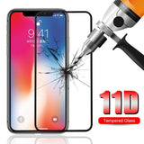 TDG 11D Full Cover Tempered Glass for Apple iPhone X XS Black - YourDeal India