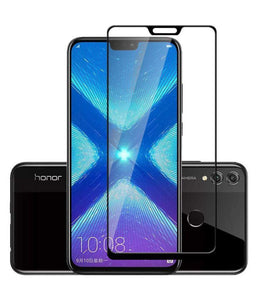 TDG 11D Full Cover Tempered Glass for Huawei Honor 8X Black - YourDeal India