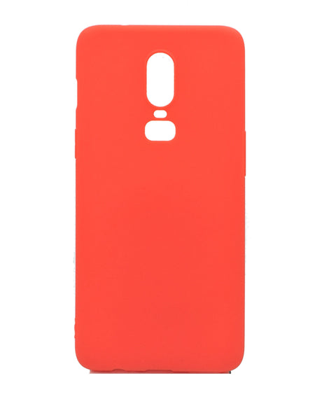 OnePlus 6T Silicone Protective Back Case Red