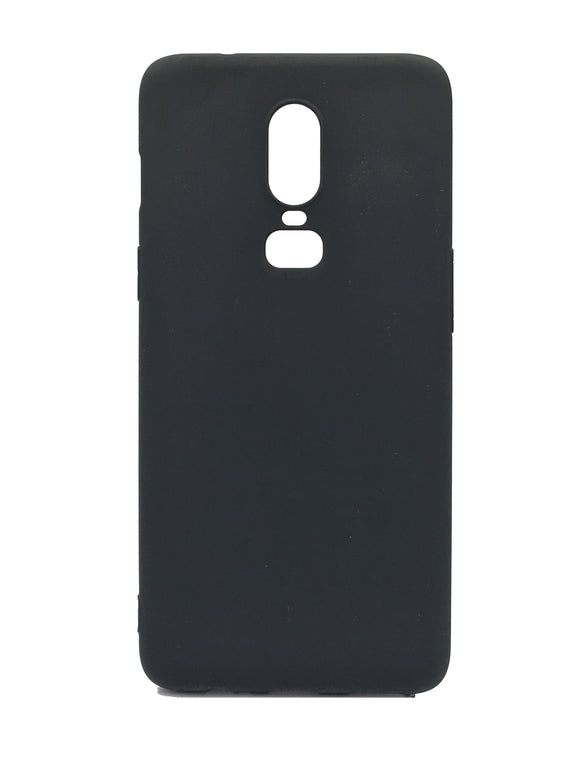 OnePlus 6 Silicone Protective Soft Back Case Black - YourDeal India