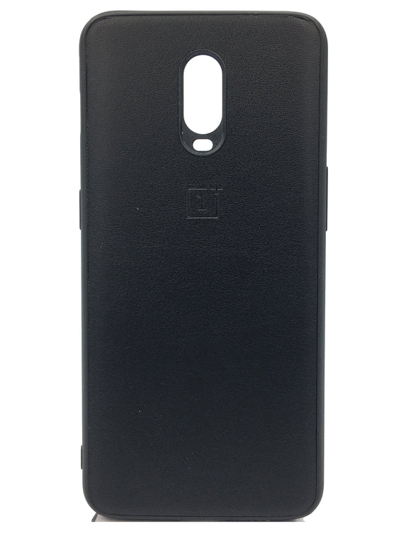 Oneplus 6T Artificial Leather Soft Back Protective Case Black  Oneplus 6T Leather Cases - YourDeal India