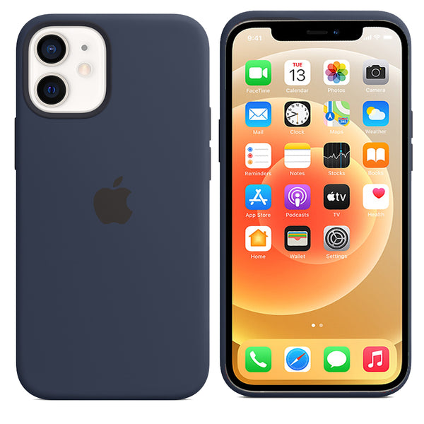 TDG Apple iPhone 12 Mini Silicone Case Cover - Dark Navy Blue - Yourdeal india