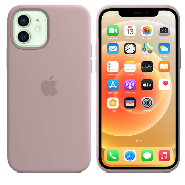 Apple iPhone 12 Mini OG Silicone Case Cover Full protection Pink Sand - YourDeal India