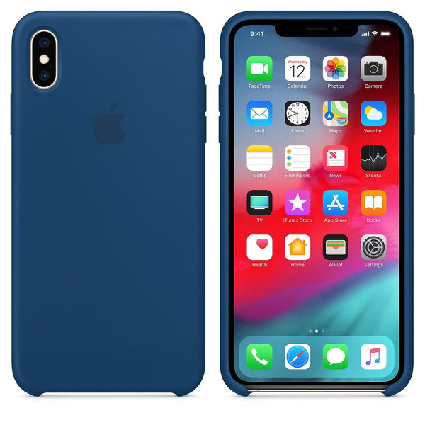 Silicone Case for Apple iPhone XS max - Blue Horizon
