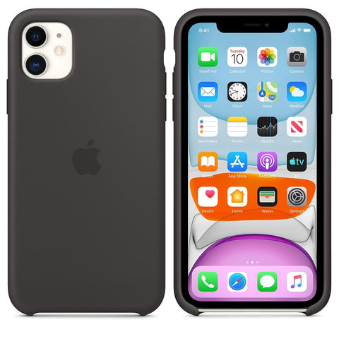 Apple iPhone 11 Silicone Case Black Lower Cut