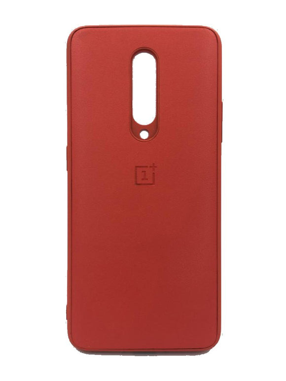 Oneplus 7 Pro PU Leather Back Cover Case With Silicone Bumper Red - YourDeal India