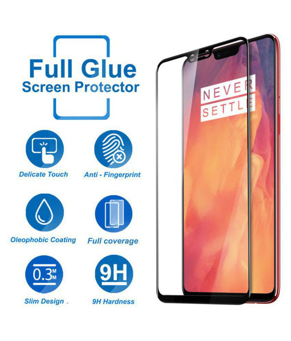 TDG 11D Edge to Edge Tempered Glass for Oneplus 6 Black - YourDeal India