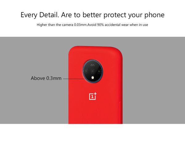 TDG Oneplus 7T Silicone Back Cover Protective Case Red