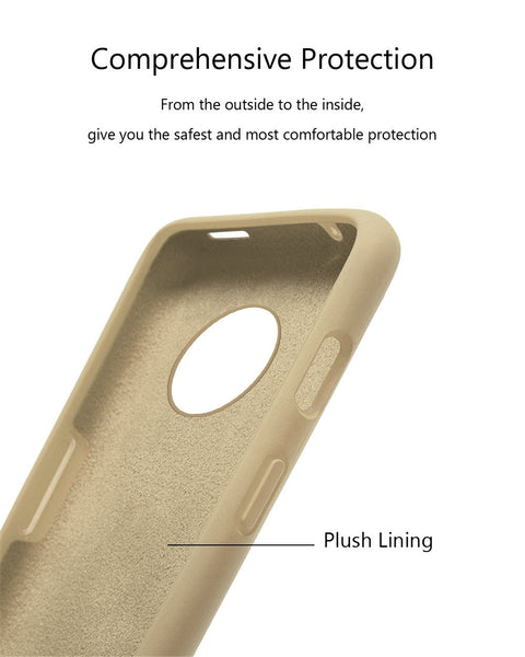 TDG Oneplus 7T Silicone Back Cover Protective Case Stone Beige