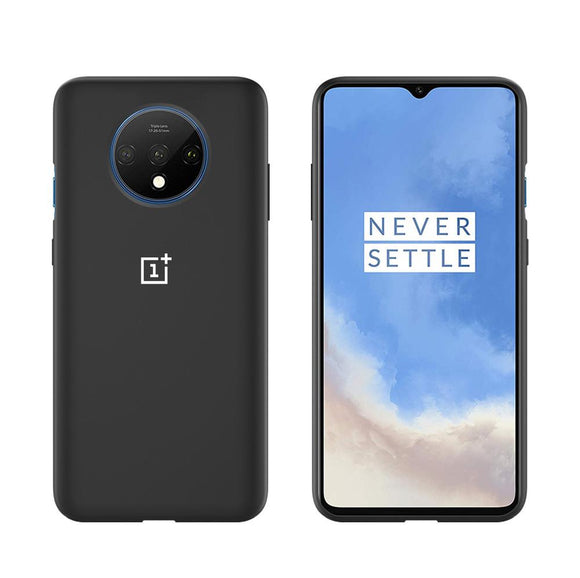 TDG Oneplus 7T Silicone Back Cover Protective Case Black - YourDeal India