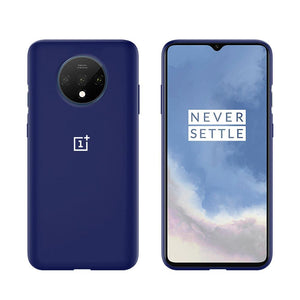 TDG Oneplus 7T Silicone Back Cover Protective Case Dark Blue - YourDeal India