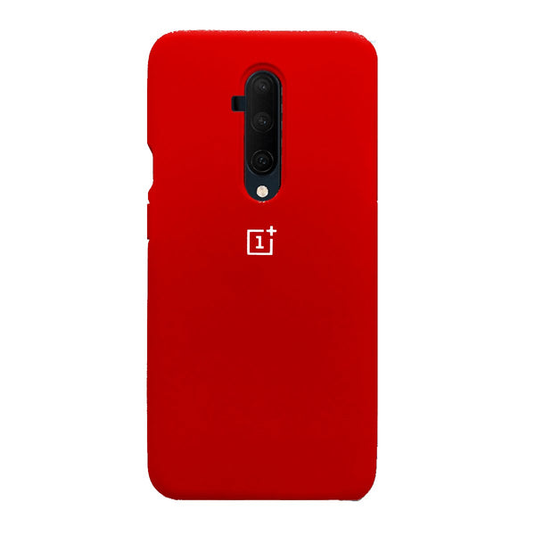 TDG Oneplus 7T Pro Back Cover Silicone Protective Case Red