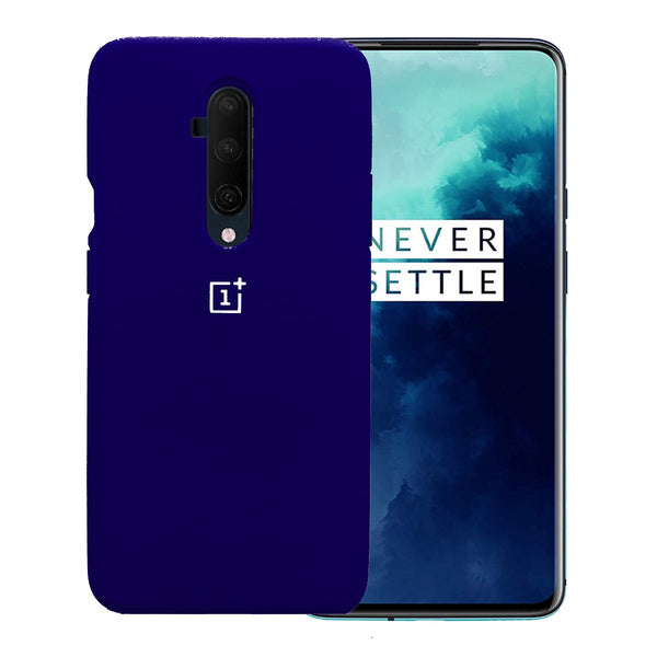 TDG Oneplus 7T Pro Back Cover Silicone Protective Case Dark Blue