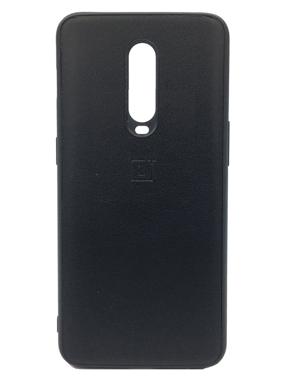 Oneplus 7 Pro Case with PU Leather Back & Silicone Bumper Sides Black - YourDeal India