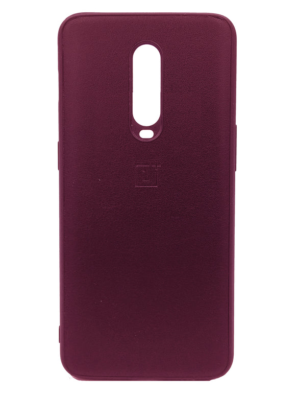 Oneplus 7 Pro PU Leather Back Cover Case With Silicone Bumper Maroon | YourDeal India