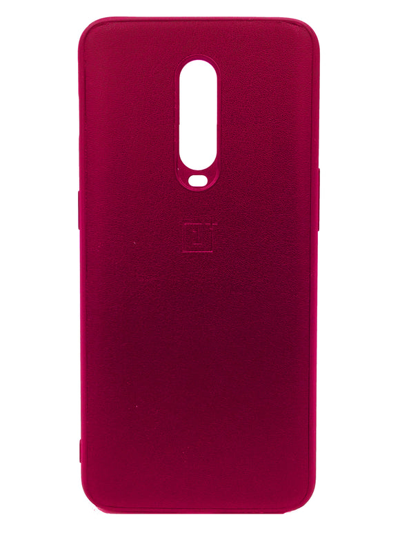 Oneplus 7 Pro PU Leather Back Cover Case With Silocone Bumper Red | YourDeal India
