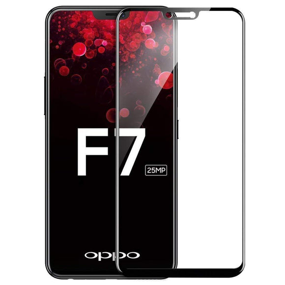 TDG 11D Full Cover Tempered Glass for Oppo F7 Black 10 Pcs 11D Tempered Glass - YourDeal India