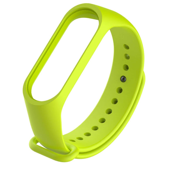 Mi Band 3 Fitness Smart Band Watch Straps Silicone Belt Lime Green - YourDeal India