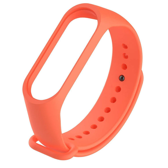 Mi Band 4 Fitness Smart Band Watch Straps Silicone Belt Orange | YourDeal India