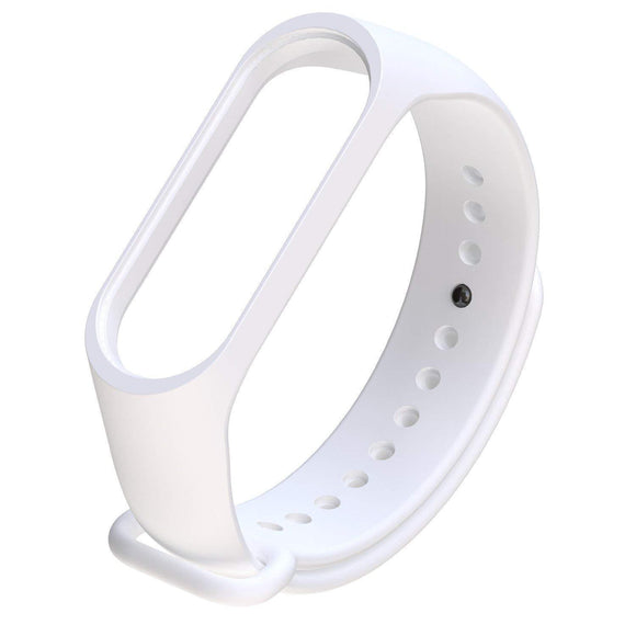Mi Band 4 Fitness Smart Band Watch Straps Silicone Belt White - YourDeal India