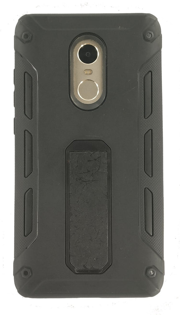 TDG Hybrid Defender Case Rugged Back Cover for Redmi Note 4 Black - YourDeal