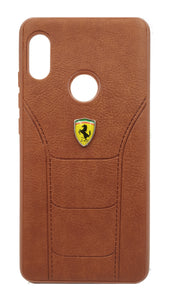 Redmi Note 5 Pro Leather Back Soft Silicone Ferrari Back Case Cover | YourDeal India