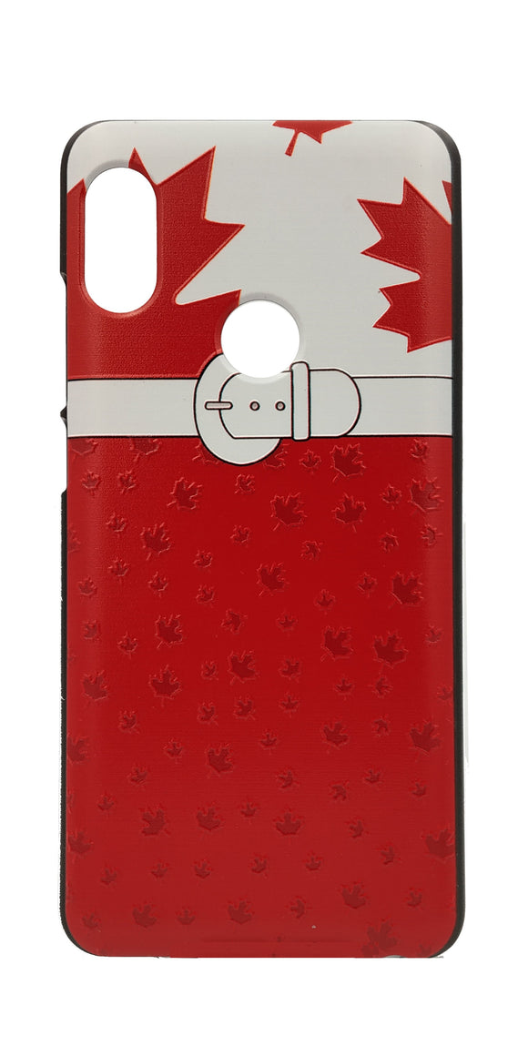 TDG Xiaomi Redmi Note 5 Pro 3D Texture Printed Maple Leaf Hard Back Case Cover - YourDeal India