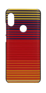 TDG Xiaomi Redmi Note 5 Pro 3D Texture Printed Orange Horizontal Stripes Hard Back Case Cover - YourDeal India