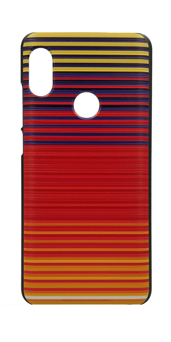 TDG Xiaomi Redmi Note 5 Pro 3D Texture Printed Orange Horizontal Stripes Hard Back Case Cover | YourDeal India