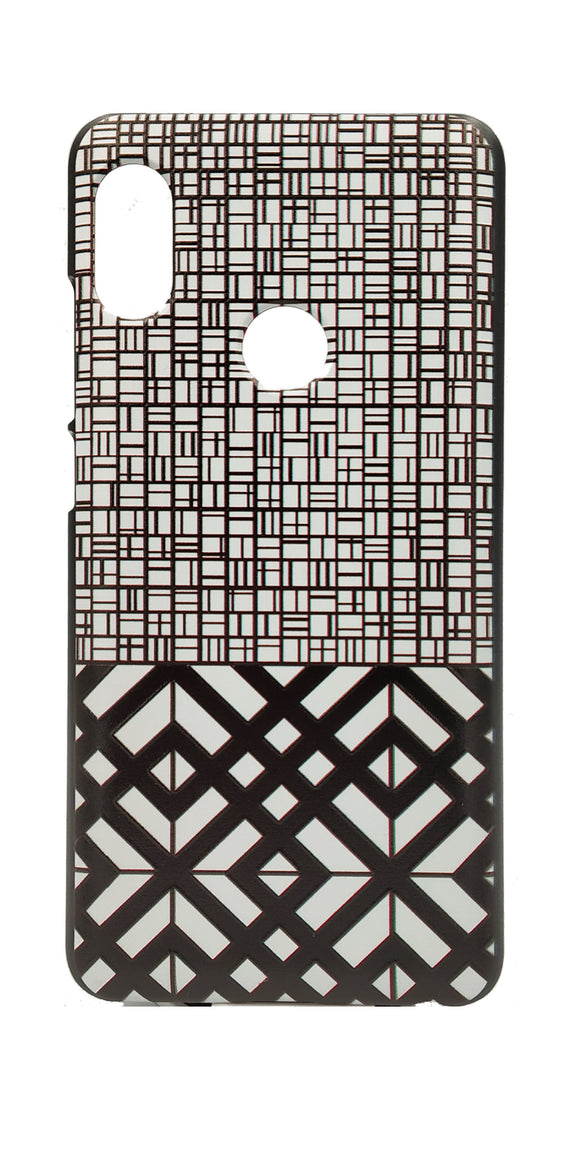 TDG Xiaomi Redmi Note 5 Pro 3D Texture Printed Black White Tile Hard Back Case Cover - YourDeal India