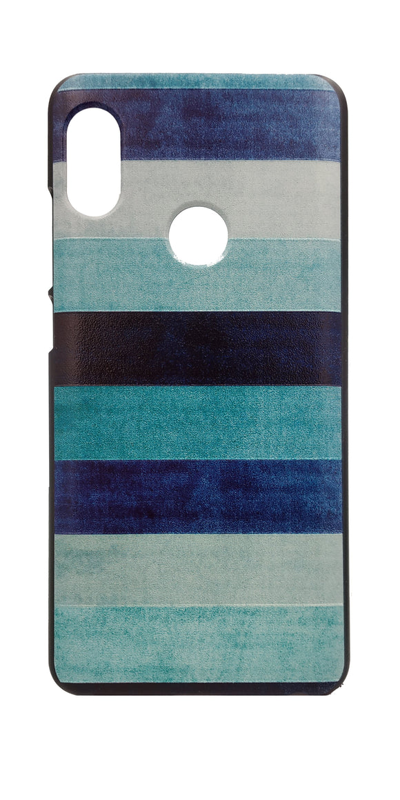 TDG Xiaomi Redmi Note 5 Pro 3D Texture Printed Blue Horizontal Shades Hard Back Case Cover - YourDeal India