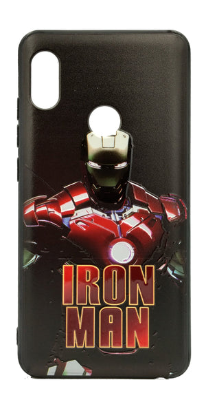 TDG Xiaomi Redmi Note 5 Pro 3D Texture Printed Iron Man Hard Back Case Cover