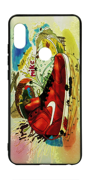 TDG Xiaomi Redmi Note 5 Pro 3D Texture Printed Nike Brand Hard Back Case Cover