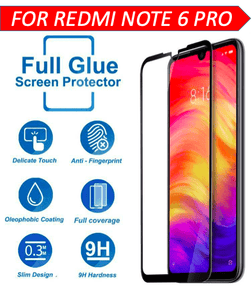 TDG 11D Edge to Edge Tempered Glass for Mi Redmi Note 6 Pro Black | YourDeal India