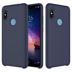 TDG Redmi Note 5 Pro Soft Silicone Protective Back Case Dark Blue - YourDeal India