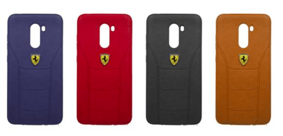 Poco F1 Leather Back Soft Silicone Ferrari Back Case Cover  Poco F1 Leather Cases - YourDeal India