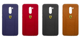 Poco F1 Leather Back Soft Silicone Ferrari Back Case Cover - YourDeal India