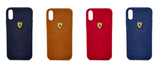Apple iPhone XS Max Leather Back Soft Silicone Ferrari Back Case Cover Brown  iPhone XS Max Leather Cases - YourDeal India