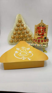 Handmade Chocolate Modaks For Gifting With Dry Fruits & Filling - YourDeal India