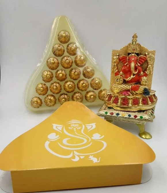 Handmade Chocolate Modaks For Gifting With Dry Fruits & Filling  Chocolate Modaks - YourDeal India
