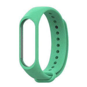 Mi Band 3 Fitness Smart Band Watch Straps Silicone Belt Green | YourDeal India