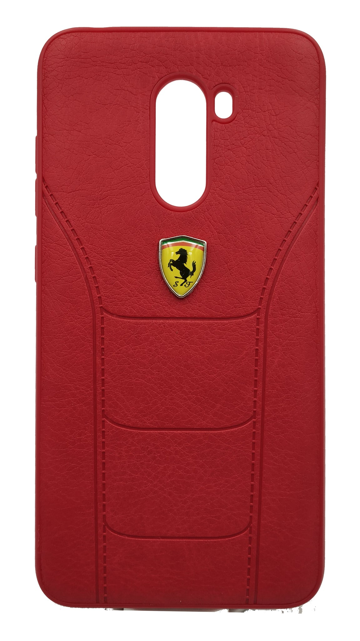 size 40 0411b 0fdd4 Buy POCO F1 Ferrari Leather Back Case Red Online [UPTO 30% OFF]
