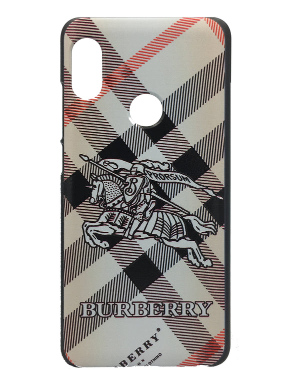 TDG Xiaomi Redmi Note 5 Pro 3D Texture Printed Designer Burberry Hard Back Case Cover - YourDeal India
