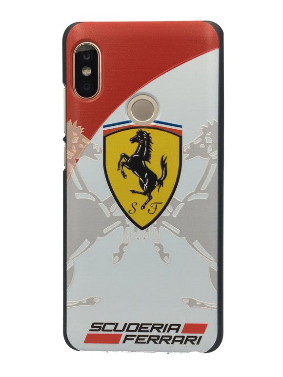 TDG Xiaomi Redmi 6 Pro 3D Texture Printed Luxury Car Ferrari Hard Back Case Cover - YourDeal India