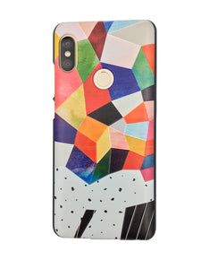 Mix Color Mosaic Printed Xiaomi Redmi Note 5 Pro Back Cover Case - YourDeal India
