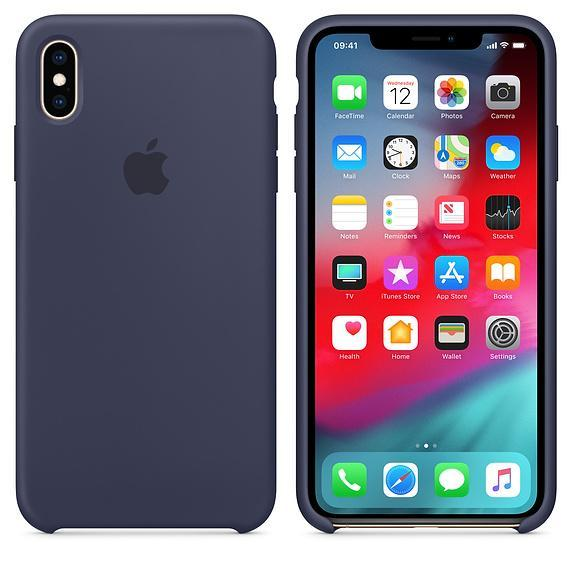 Silicone Case for Apple iPhone X XS - Dark Blue