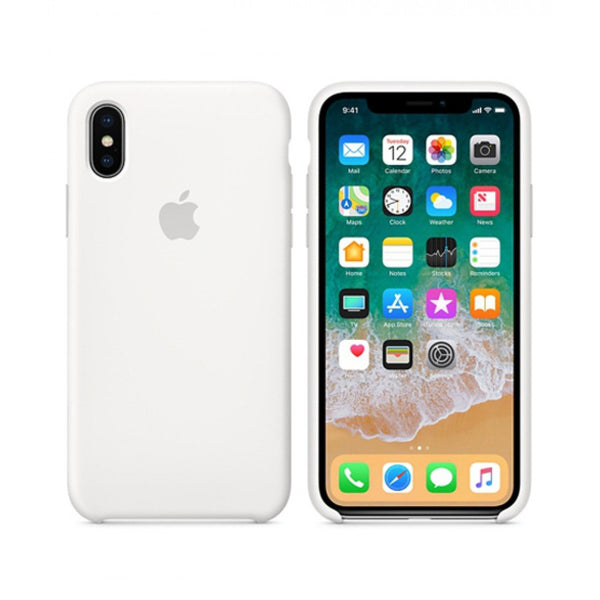 Silicone Case for Apple iPhone X XS - White