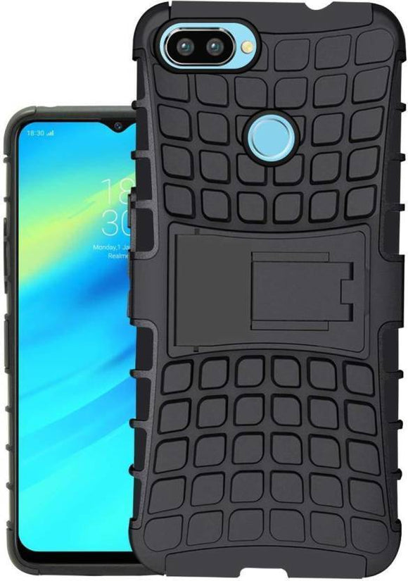 TDG Realme 2 Hybrid Defender Case Dual Layer Rugged Back Cover Black - YourDeal India