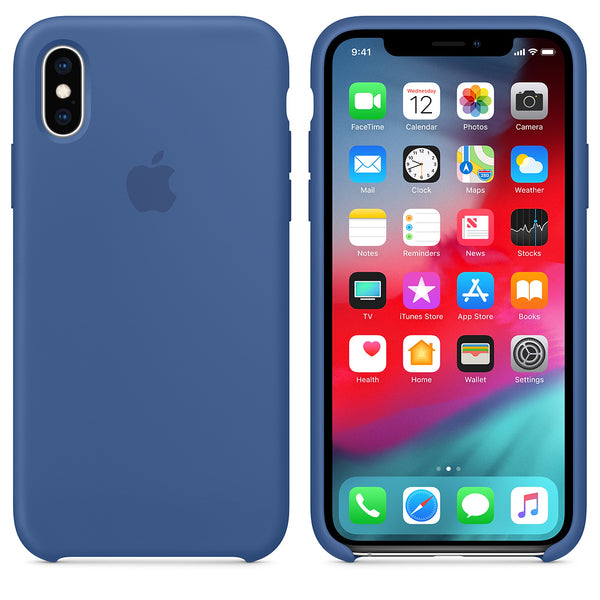 Silicone Case for Apple iPhone X XS - Delft Blue