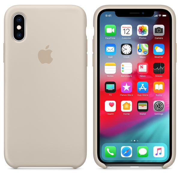 Silicone Case for Apple iPhone X XS - stone